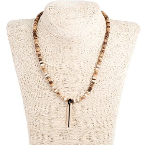 Coco Wood Necklace with竹とサーフボード木製ペンダント