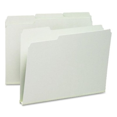 Recycled Folder, One Inch Expansion, 1/3 Top Tab, Letter, Gray Green, 25/Box (並行輸入品)