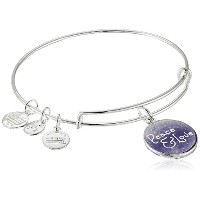 Alex and Ani Peace and Love Expandable Wire Bangleチャームブレスレット