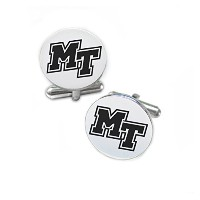 Middle Tennessee StateブルーRaidersステンレススチールRound Cufflinks