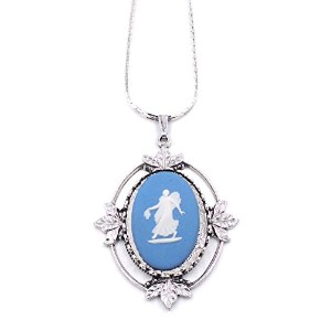 """Authentic Wedgwood """" Floral Woman """"ネックレスin silver-plate"""