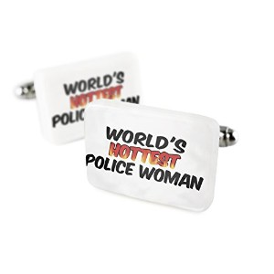 Cufflinks Worlds Hottest Police Woman磁器セラミックNEONBLOND