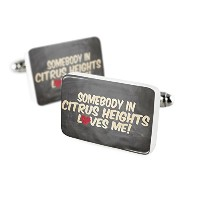 Cufflinks Somebody in Citrus Heights Loves me、カリフォルニア磁器セラミックNEONBLOND