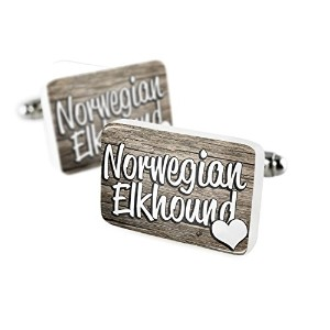 Cufflinks Norwegian Elkhound、Dog Breedノルウェー磁器セラミックNEONBLOND