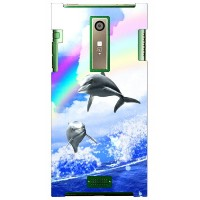 【送料無料】 Dolphin Rainbow A design by DMF / for URBANO L02/au 【Coverfull】au urbano l02 ケース urbano l02...