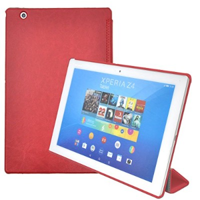 PLATA Xperia Z4 Tablet SO-05G / SOT31 / SGP712JP ケース カバー レザー スタンド 機能付き 【 レッド 赤 red 】 DSO05G-70RD