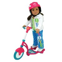 Sophia's Doll Scooter & Helmet Set Made by , 18 Inch Dolls Accessories fit for American Dolls, 2 Pc...