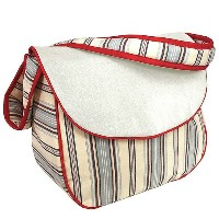 Hoohobbers Messenger Diaper Bag, Stellar Stripes by Hoohobbers