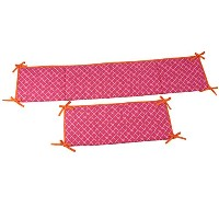 Happy Chic Baby Jonathan Adler Party Elephant Bumper, Pink/Orange/White by Happy Chic Baby Jonathan...