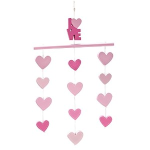 Little Love by NoJo Ceiling Mobile, Pink Hearts by NoJo