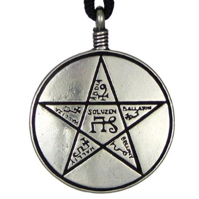 ピューターTalisman Shield of Solomon Pentacle Pendant – 1.25インチ直径