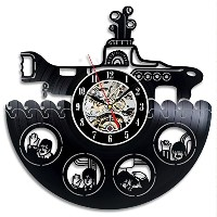 The Beatles Yellow Submarine Vinyl Record Design Wall Clock - Decorate your home with Famous Style...