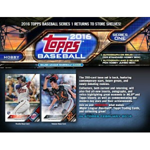 MLB 2016 TOPPS SERIES 1 HOBBY BOX(送料無料)
