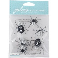 Jolee's Boutique Dimensional Stickers-Black & White Spiders (並行輸入品)
