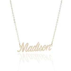Huan XunヴィンテージPersonalized Calligraphy名前ネックレスジュエリー、Madison