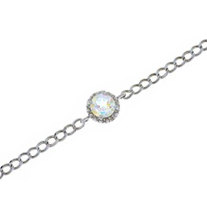 1 Ct Mercury Mist Mystic Topaz & Diamond Round Bracelet .925 Sterling Silver Rhodium Finish