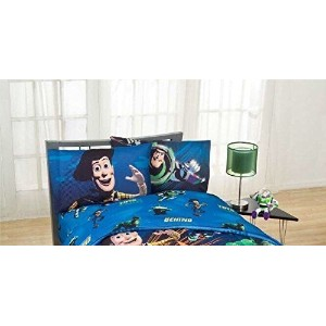 "Disney's Toy Story - Don't Toy With Us 寝具セットキッズ快適なツイン Sheet Set 66 ""X 96"""