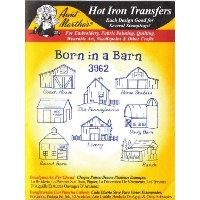 Born in a Barn Aunt Martha's Hot Iron Embroidery Transfer by Aunt Martha's