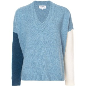 Derek Lam 10 Crosby - Colorblocked V-Neck Sweater - women - ポリアミド/ウール - S