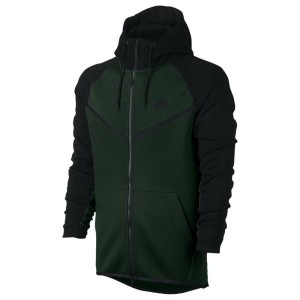 ナイキ メンズ トップス フリース【Nike Tech Fleece Colorblocked Windrunner】Vintage Green/Black/Black