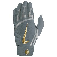 ナイキ メンズ 野球 グローブ【Nike Huarache Elite Batting Gloves】Cool Grey/Metallic Silver/Metallic Gold