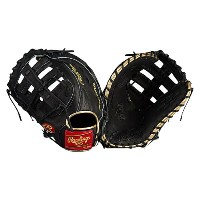 ローリングス メンズ 野球 グローブ【Rawlings Heart of the Hide Fielding Glove】Black/Metallic Gold