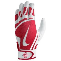 ナイキ メンズ 野球 グローブ【Nike Huarache Edge Batting Gloves】White/University Red