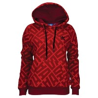 アディダス レディース トップス パーカー【adidas Originals St. Petersburg AOP Hoodie】Power Red/Collegiate Burgundy
