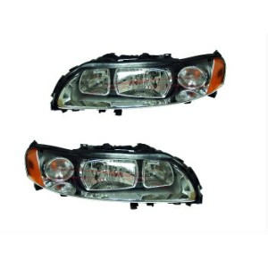 ボルボ ヘッドライト 2005-2009 Volvo S60 Halogen Head Lights Lamps Driver & Passenger Side LH+RH 2005...
