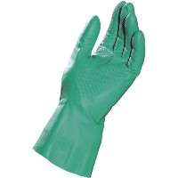 MAPA StanSolv AF-18 Nitrile Glove, Chemical Resistant, 0.018 Thickness, 13 Length, Size 9, Green ...