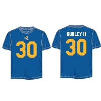 Todd Gurley II # 30 LOS ANGELES RAMSレトロMajestic NFL「eligible Receiver II」メンズTシャツ S ブルー