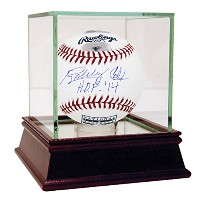 "MLB Atlanta Bravesボビーコックス署名野球with "" HOF 14 "" Inscription"