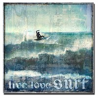 Live Love Surf by Charlie Carterカスタムギャラリー‐ Gicleeアート( Ready to Hang ) Oversize 4848H277TG