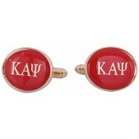 Kappa Alpha Psi Cufflinks Red Gold Fraternity Greekカフリンク