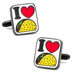 Cufflinks Inc。メンズI Love Tacos Cufflinks One Size