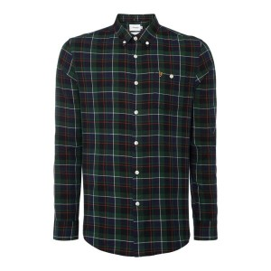 ファーラー メンズ トップス シャツ【Finsbury Regular Fit Twill Check Shirt】green