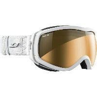 ジュルボ レディース スキー・スノーボード ゴーグル【Elara Goggles - Camel Photochromic】White Rhinestone/Silver Flash