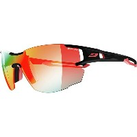 ジュルボ レディース スポーツサングラス【Aerolite Zebra Photochromic Sunglasses】Black/Red/Zebra Light