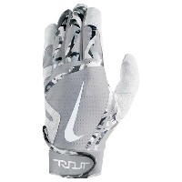 ナイキ メンズ 野球 グローブ【Nike Trout Edge Batting Gloves】White/Wolf Grey/White