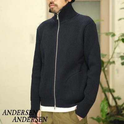 ANDERSEN-ANDERSEN(アンデルセン アンデルセン)/THE NAVY - 1/1 ZIP with Pocket -NAVY BLUE-