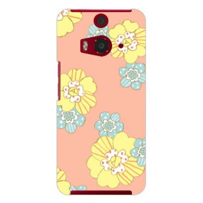 【送料無料】 uistore 「patchwork flower (salmon pink)」 / for HTC J butterfly HTL23/au 【SECOND SKIN】au...