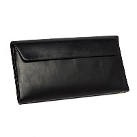 Zhhlinyuan レザー Mens Women Soft Long Folding First Cowhide Leather Folding Credit Card Purse Money...