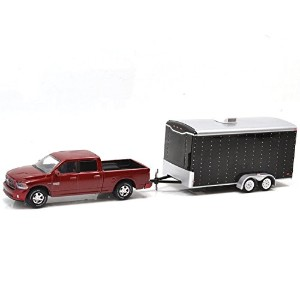 "GREENLIGHT 1:64 HITCH&TOW ""2014 Ram 1500 Sport and Enclosed Car Hauler""  グリーンライト 1:64スケール ヒッチ&トウ ..."