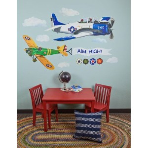 Oopsy daisy Airplanes Peel and Place Childrens Wall Decals by Jill Pabich, 54 by 60-Inch by Oopsy...