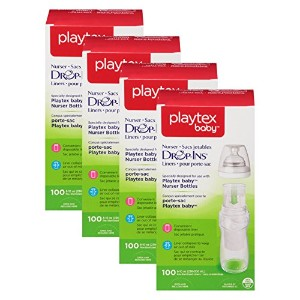 Playtex Drop-Ins Pre-Sterilized Soft Bottle Liners, 8-10 oz. 400 Count (8-10oz size) by Playtex