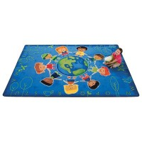 Give the Planet a Hug Rug - 5'5 x 7'8 Rectangle by Carpets for Kids