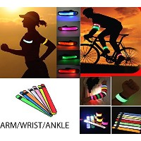 Best LED Glowing SLAP Band for腕、手首&足首with battery-sweat resistant-easy to clean-highly reflective...