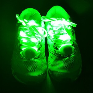qinsuee 2ペアLED Light Upナイロン靴紐、3点滅モードwith High Visibility Glowing in theダーク、for、ディスコパーティー、コンサートヒップホップ...