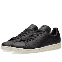 adidas Stan Smith Mens Originals Black Perforated Leather Trainers Sneakers