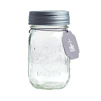 Recap Mason Jars Pour &ボールPint Jar Pint, Regular Mouth FJ16-R-SLVR1